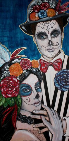 Day of the Dead Original Painting!