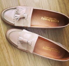 Pastel loafers from Russell & Bromley