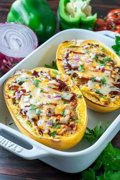 Grab that lone spaghetti squash sitting on your counter and break out the barbecue sauce! These BBQ Chicken Spaghetti Squash make low-carb eating fun and delicious!