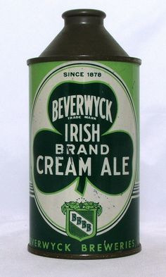 Beverwyck Cream Ale 12 oz Cone Top Beer Can Albany New York   eBay
