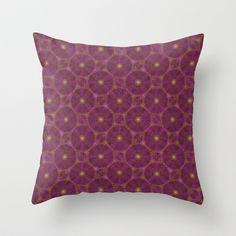 Pseudo Pompous Boudoir - India Pink little stars Throw Pillow by Pseudo Pompous  - $20.00