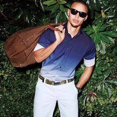 Steph Curry models some new spring style.