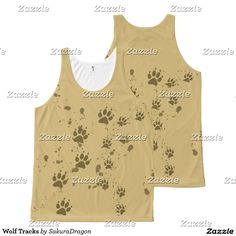 Wolf Tracks All-Over Print Tank Top #wolf #wolves #animals #paws #tracks