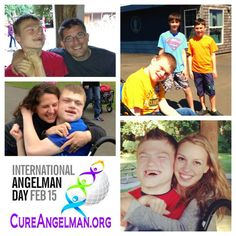 International Angelman day February Nathan and Friends. Angelman Syndrome, Things To Think About, February, Baseball Cards, Friends, Day, Sports, Life, Amigos