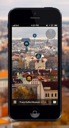 Local Discovery app concept by Pavel Maček # AR # info on real pic Interaktives Design, App Ui Design, User Interface Design, App Map, Design Innovation, Visualisation, Mobile Ui Design, Mobile App Ui, Ui Design Inspiration