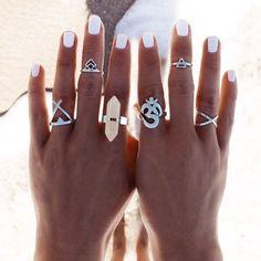 Tibetan Silver Ring Set – Lotsachakra
