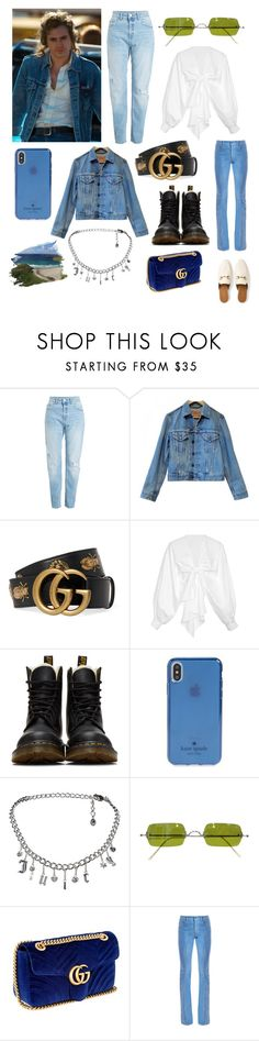 """""""Untitled #575"""" by kaliforniakatie on Polyvore featuring Levi's, Gucci, Johanna Ortiz, Dr. Martens, Kate Spade, Juicy Couture and Oliver Peoples"""