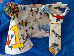 Cake Smash Outfit  Diaper Cover Tie & Birthday by SlickandBoogers, $25.00