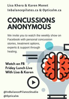 Welcome to our weekly show Concussions Anonymous with Lisa Khera from In Balance Pilates & Karen Monet from Opticalm. This week our show is on slips & falls. Foods For Brain Health, Healthy Brain, Brain Injury Recovery, At Home Workouts, Yoga Workouts, Fitness Exercises, Post Concussion Syndrome, Posture Exercises