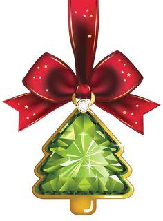 Christmas Crystal Tree Ornaments Clipart