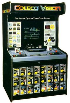 "classic store kiosk: Colecovision.  ""Arcade Quality Gaming"" - we really thought nothing could top it, haha"