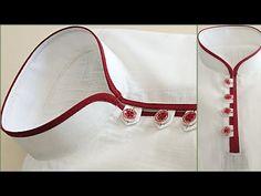 Latest kurta design / sew a Designer kurta 2019 / Latest designer short kurta 20 Churidhar Neck Designs, Neck Designs For Suits, Neckline Designs, Designs For Dresses, Blouse Neck Designs, Gents Kurta Design, Boys Kurta Design, Kurta Neck Design, Latest Kurta Designs