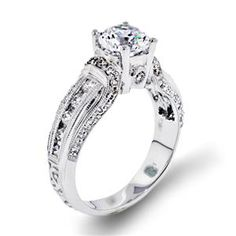 Shop online Arthurs Collection WRW-11844 Side Stone White Gold Diamond Engagement Ring at Arthur's Jewelers. Free Shipping Moissanite Rings, Girls Best Friend, Diamond Engagement Rings, Costume Jewelry, White Gold, Jewels, Free Shipping, Stone, Wedding Rings