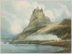 Lindisfarne Castle, Holy Island, Northumberland | Thomas Girtin ...