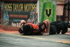 2013 NZ Nationals Qualifying - just doing a coupla push ups there Derek?  Meremere Dragway Inc. Pic by Maria Panova Photography