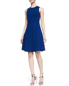 Doll Stretch Fit-and-Flare Dress by Joseph at Bergdorf Goodman.