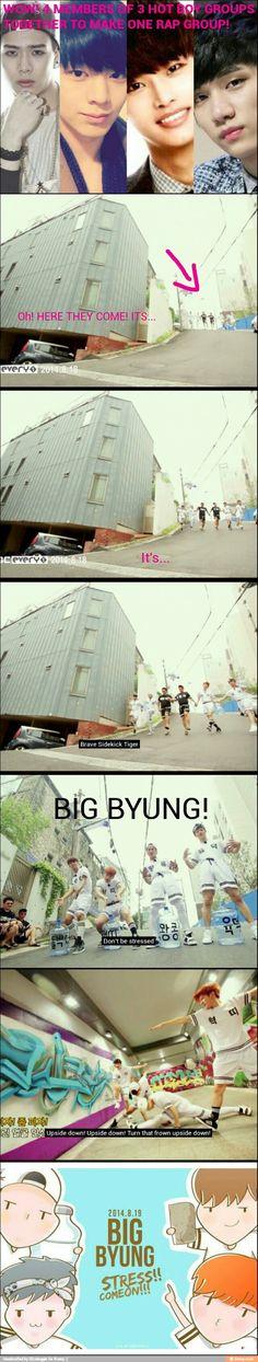 Lol Got7's Jackson, BTOB's Sungjae, and VIXX's N & Hyuk together in one rap group created on 'Hitmaker'.