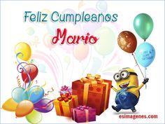 Feliz Cumpleaños Mario - Imágenes Tarjetas Postales con Nombres | Feliz…