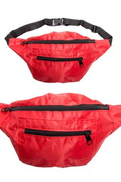 Red Solid Fanny Pack
