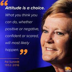 RIP Pat Summitt - a great lady!