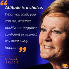 RIP Pat Summitt - a great lady!