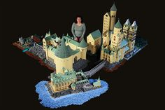 Alice Finch built a Lego version of Hogwarts made out of 400,000 (!) bricks. The highly detailed School of Witchcraft and Wizardry took Alice 12 months to build. This Lego replica not only looks incredible; it lights up, too. The project features a courtyard, greenhouses, a boathouse, and Hagrid's hut—there's even a miniature Dark Forest. The roof on the widest building is comprised of 3,500 cone bricks—that's more pieces than what you'll find in even a large off-the-shelf Lego set.    Each