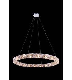 C121-2912D32C/RC By Elegant Lighting Halo Collection 20 Light Pendant
