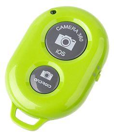 Look what I found on #zulily! Green Bluetooth Selfie Button by Center Link Media  #zulilyfinds