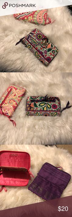 🌟Bundle 🌟2 Wallets Pre-owned in good condition with minor flaws, see pictures. They still have lots of life left, they are clean ready to use. All items are honestly presented to the best of my knowledge, and are stored in a non-smoking environment. Item is in great condition unless noted. No returns Vera Bradley Bags Wallets