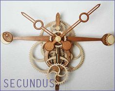 Wooden Clock plans and gears for scrollsaw and CNC