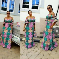 Mind Blow Ankara Long Gown Styles For Beautiful Ladies .Mind Blow Ankara Long Gown Styles For Beautiful Ladies Latest African Fashion Dresses, African Print Dresses, African Print Fashion, African Dress, African Attire, African Wear, African Women, Unique Ankara Styles, Ankara Long Gown Styles
