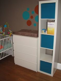 Malm as changing table