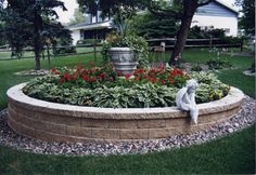 This circular planter will give any yard a touch of elegance.