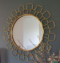 gold chain link mirror by the forest & co | notonthehighstreet.com