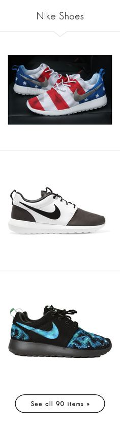 """""""Nike Shoes"""" by basketballislife11 ❤ liked on Polyvore featuring shoes, athletic shoes, grey, sneakers & athletic shoes, tie sneakers, unisex adult shoes, white athletic shoes, gray shoes, tie shoes and american flag shoes"""