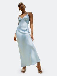 Long Slip Dress, Black Slip Dress, Slip Dresses, Formal Dresses, Formal Wear, Dress Outfits, Fashion Outfits, Fashion Sale, Comfortable Fashion