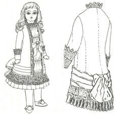 "SEWING PATTERN fits 12-14"" DOLL DRESS Victorian German French Little Darling"