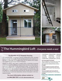 100 Sq. Ft. Hummingbird Tiny House with Loft