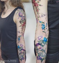 200 Pictures of Female Arm Tattoos for Inspiration - Photos and Tattoos - Flower Tattoo Designs - Marya Tyurpeko Blumentattoo - Sexy Tattoos, Cute Girl Tattoos, Pretty Tattoos, Beautiful Tattoos, Body Art Tattoos, Tribal Tattoos, Sleeve Tattoos, Floral Tattoo Design, Flower Tattoo Designs