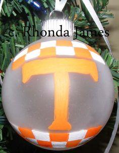 UT Vols University of Tennessee Volunteers Hand Painted Christmas Ornament