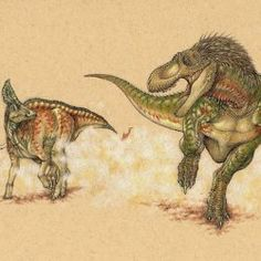 Article how hadrosaurs escaped T. rex.