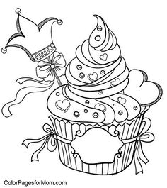Cup cake colouring
