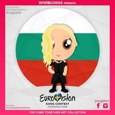 If love is a crime, then call us criminals because we just LOVE her #Eurovision2016 song! She's ready to take #Bulgaria back to the final. She is @poli.genova! See more of our #Eurovision cartoons at #cometogethercollection Art by @josugalem