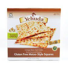 Yehuda Gluten Free Matzo-Style Crackers with Toasted Onion, Passover ...