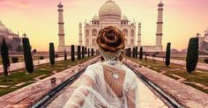 """Murad Osmann and his girlfriend took their """"Follow Me"""" Instagram series to India."""