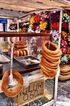 Fresh Kouloúria sold on the streets of Hania - Crete, Greece