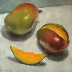 """Daily Paintworks - """"Mangos No.2"""" by Michael Naples"""