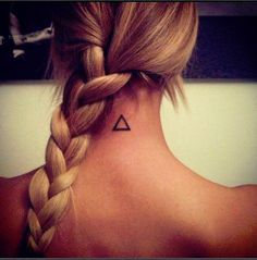 Back of the neck tat, I kinda like the simplicity of the triangle