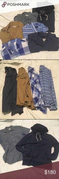 *BUNDLE* of 4 J. Crew men's M tops (read below) 4 J. Crew men's pieces. All size M. 3 long sleeve button downs & 1 long sleeve halfway button down (the tan colored one). Let me know if you want to purchase individual items and I can make a separate listing 😊 J. Crew Shirts
