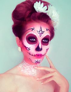 Sugar skull bride. Costume. via Kryolan Professional Make-up